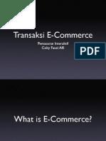 Transaksi Ecommerce