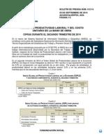Inegi - Índice Global de Productividad Laboral de la Economía (IGPLE)