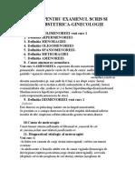 Subiecte Pentru Examenul Scris Si Practic Obstetric A