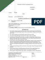 Sample Subpoena to Produce - Foreclosure QLD
