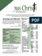 Corpus Christi Sunday Bulletin Jan 4-5 2014