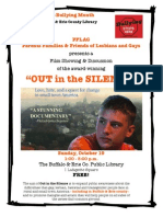 PFLAG flyer for Library screening.