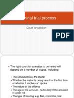 lesson 11 - criminal trial process - court jurisdiction
