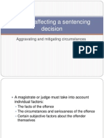 lesson 21 - factors affecting a sentencing decision