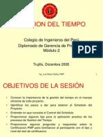 PMI CIP Sesión 2a Gestión del tiempo.ppt