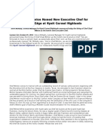 Chef Chad Minton Named New Executive Chef for Pacific's Edge at Hyatt Carmel Highlands
