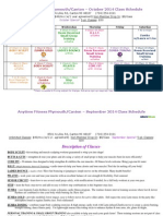 October Live Class Schedule Anytime Fitness Canton