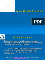Features of Quality Assurance