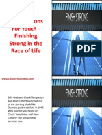 Bible Lessons for Youth - Finishing Strong in the Race of Life