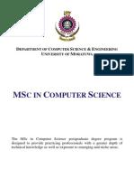 MSc Course Information 2015