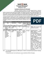 Detail Advertisement for Recruitment of Doctors at E1 E2 Grade