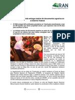 037 - 1 BOLETIN Realiza RAN segunda entrega masiva de documentos agrarios en el Distrito Federal