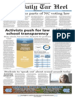 The Daily Tar Heel for Oct. 2, 2014