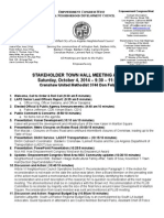 ECWANDC Town Hall Meeting Agenda - October 4, 2014