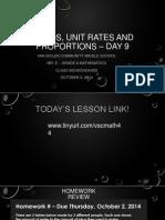 Lesson #9 - Unit Rates