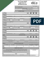 BIR Form No. 0901-D Dividends