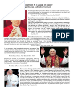 papal quotes on the environment