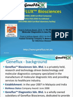 GENEFLUX Corporate Profile Dec 2012