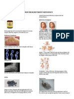 Common Micronutrient Difficiency