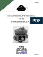 Bulletin 114 IOM Manual GP Steam dsFilter