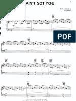 Sheet Music - Piano - Alicia Keys - If I Ain't Got You[1]