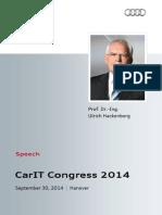 Prof. Dr. Ulrich Hackenberg, CarIT-Congress, September 30, 2014.pdf