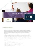 Program Info - Teaching Skills for Non Teacher (C-TSNT) v01C
