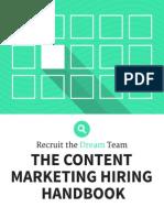 The Content Marketing Hiring Handbook