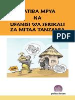 Katiba Mpya na Ufanisi wa Serikali za Mitaa Tanzania