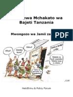 Kuuelewa Mchakato wa Bajeti Tanzania, Toleo la 2008
