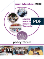 Policy Forum Directory 2012