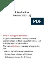 Introduction MBA I(13 15) f