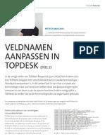 Veldnamen aanpassen in TOPdesk (deel 2)