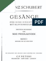 Schubert Lieder (Bass) v.1