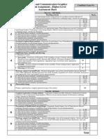 assessment sheet - higher level