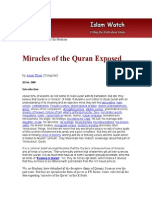 Miracles of the Quran Exposed Quran