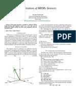 Calibration of MEMs Sensors