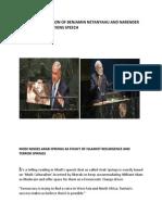 Critical Comparison of Netanyahu and Narender Modi United Nations Speech