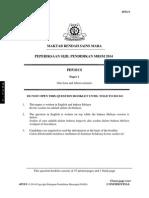 Trial MRSM SPM 2014 Physics K1 No Skema