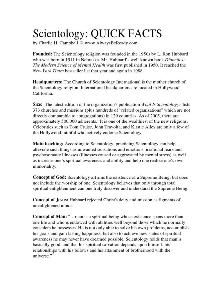 scientology a pdf reincarnation religious faiths