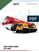 Sany Mobile Crane STC1000