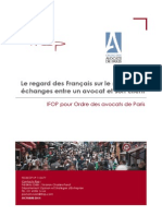 Le regard des français sur le secret des échanges entre un avocat et son client