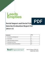 Leeds Empties interim social impact report October 2014