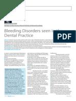 Bleeding Disorders Seen in the Dental Practice