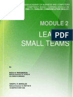 Module 2 Leading Small Teams