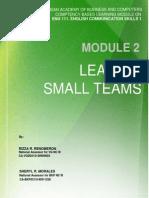 Module 2 Leading Small Teams