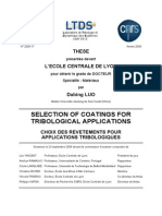 SELECTION of COATINGS for Tribological Applications