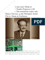 Toader Popescu - Unul Dintre Cei Mai Mari Sfinți Ai Închisorilor
