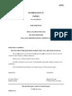 Mathematics T Trial paper Semester 2