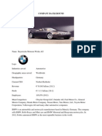 External factors for BMW